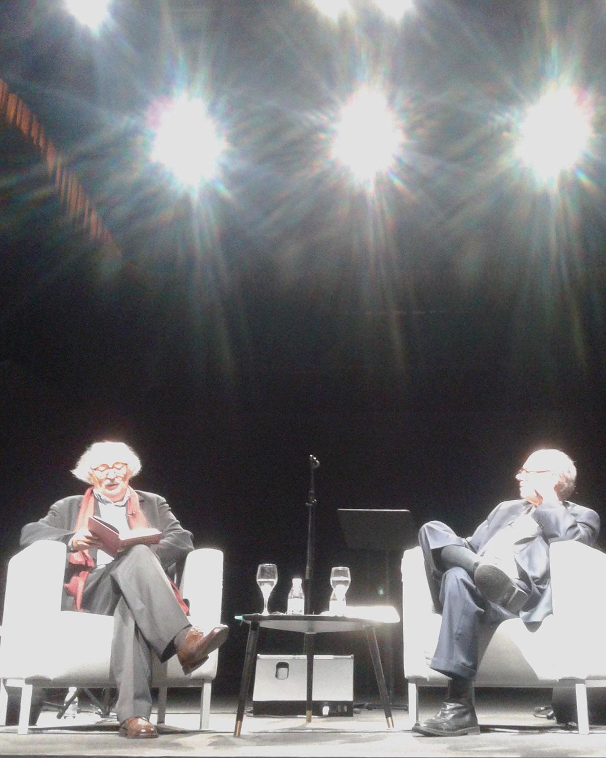 Antonio Colinas y (Izquierda) y Pere Gimferrer. FOTOGRAFÍA DE WINSTON MANRIQUE