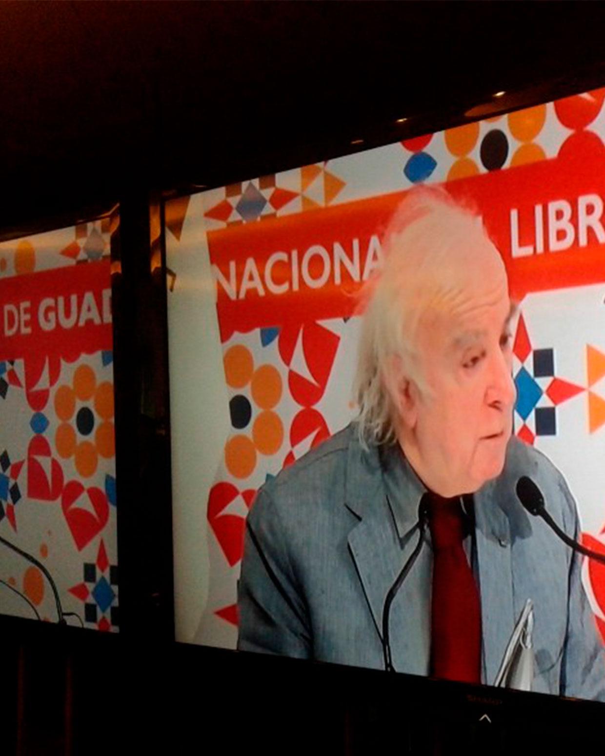 Norman Manea en la FIL. FOTOGRAFÍA DE WINSTON M,ANRIQUE