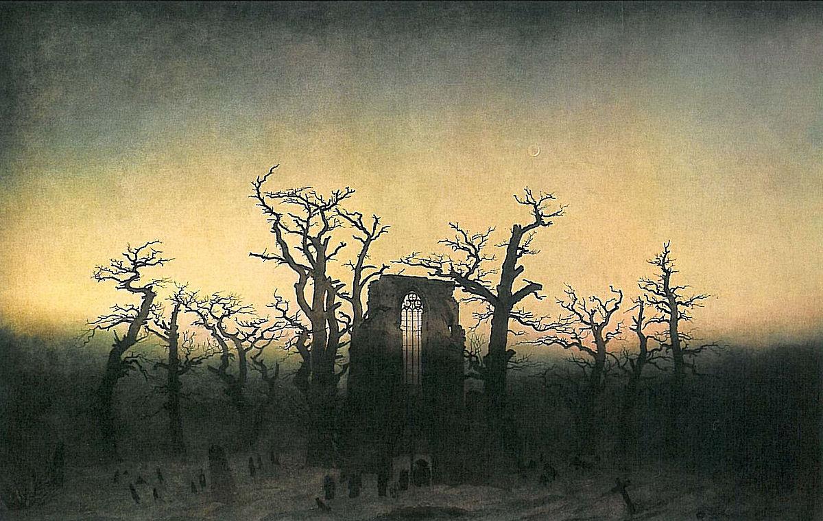 'Abadía en un bosque', de Caspar Friedrich.