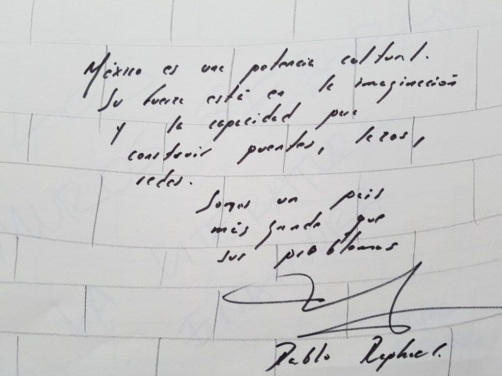 Grafiti de Pablo Raphael