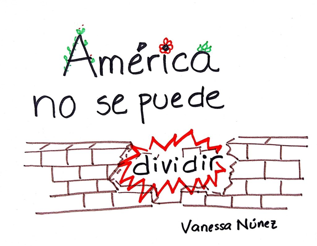 Grafiti de Vanessa Núñez