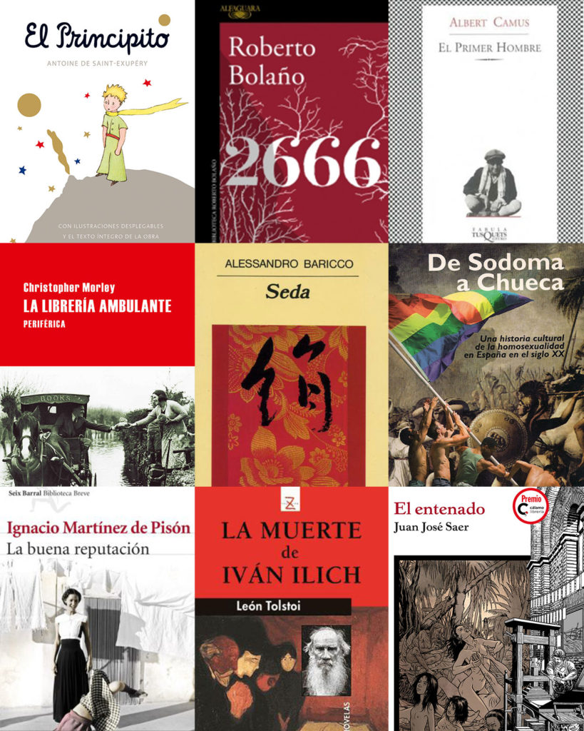 Mosaico de algunas de las obras favoritas de los libreros.