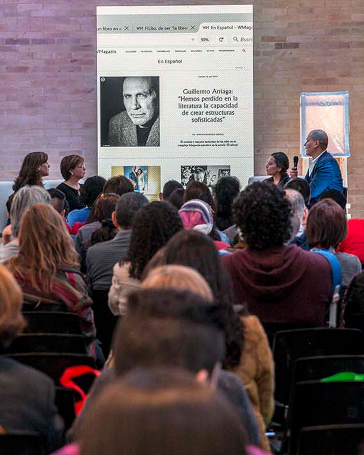 Presentación de WMagazín en la FILBo, el pasado 28 de abril. /Fotografía de Lisbeth Salas