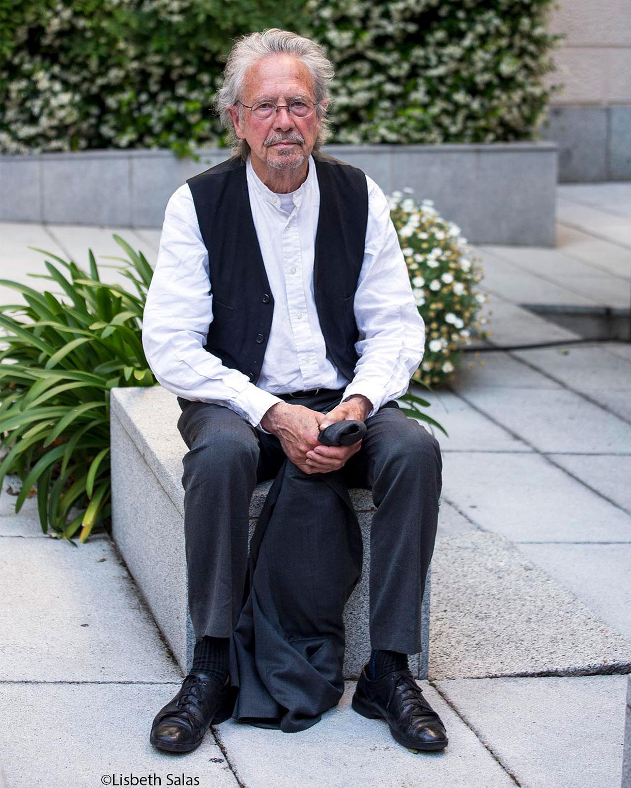 Peter Handke, en el Instituto Goethe de Madrid. / Fotografía de Lisbeth Salas