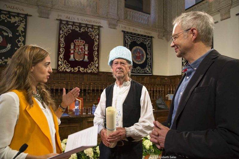 Laura Ariza, Peter Handke y Georg Pichler.