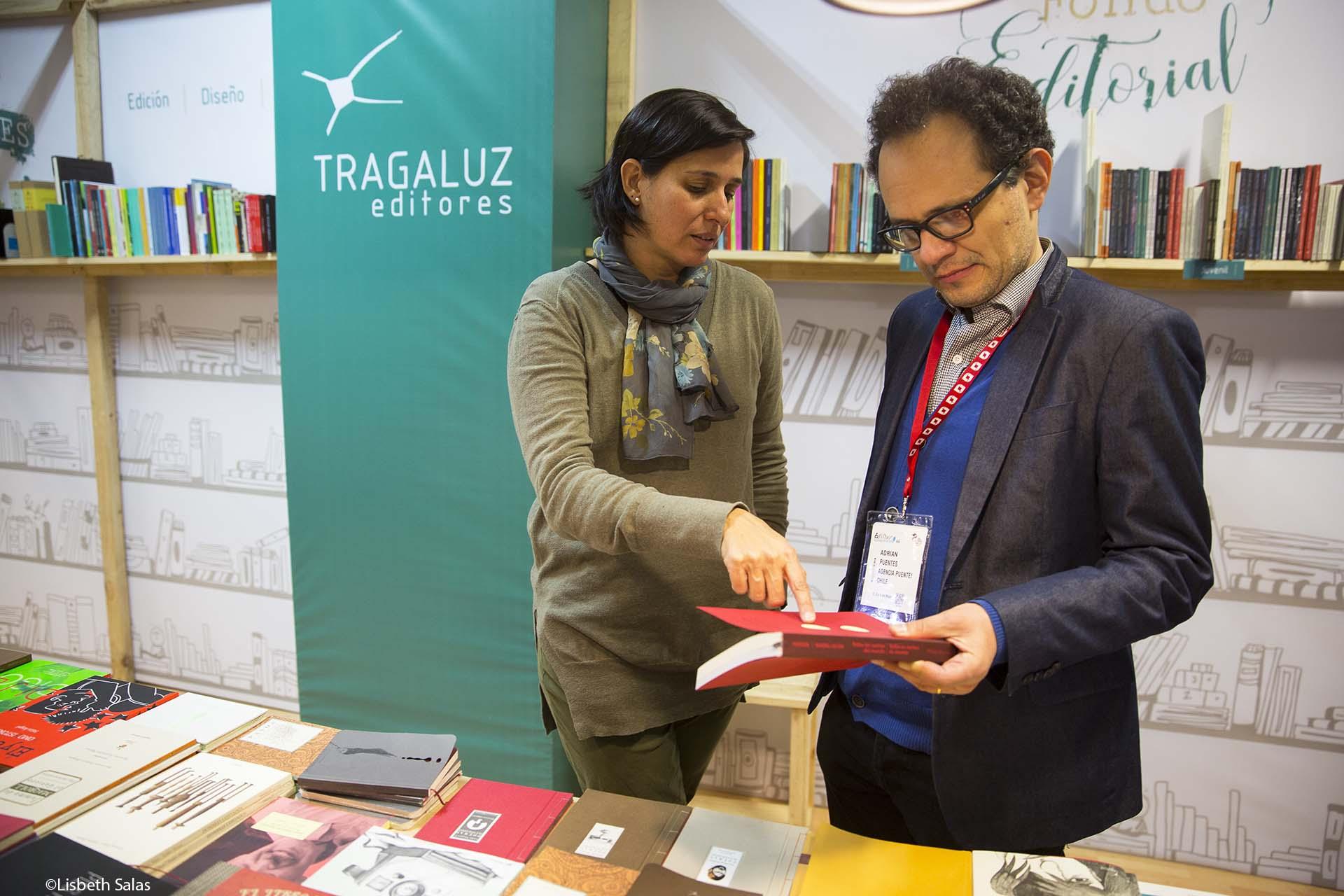 Pilar Gutiérrez, editora de Tragaluz, en la FILBo 2017.