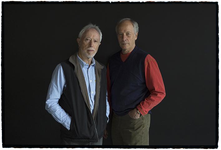 J. M. Coetzee (izquierda) y Richard Ford, fotografiados por Mordzinski en la Filbo 2017.