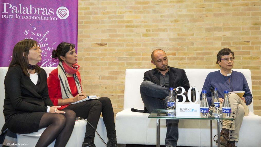 De izquierda a derecha: Lara Parra, Edurne Portela, Gilmer Mesa y Marbel Sandoval Ordóñez. /Fotografía de Lisbeth Salas